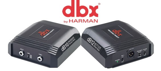 DBX Professional Direct Box Pasif DB10 dan Direct Box Aktif DB12