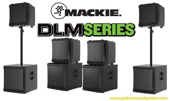 Speaker aktif mackie dlm series paket sound system for Ukuran box salon 8 inch