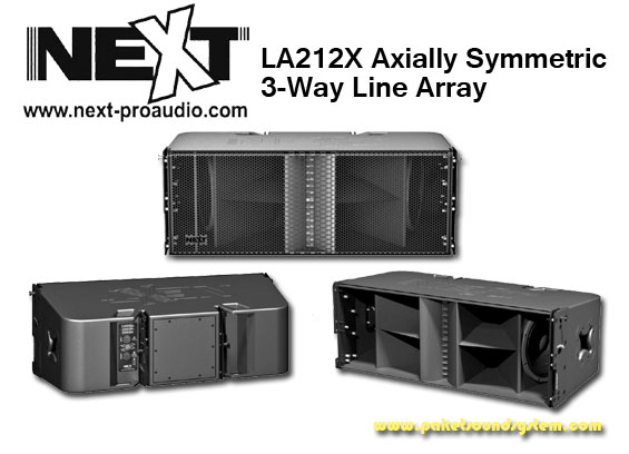 Sistem Line Array 3 Way Next Pro Audio LA212X