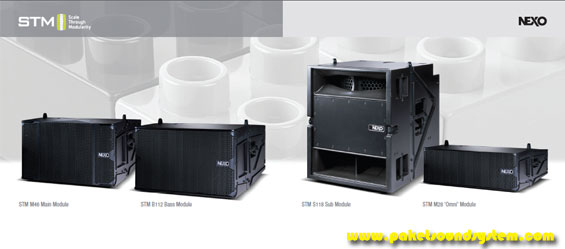 Sistem Speaker Line Array Modular NEXO STM ( Scale Through Modularity )