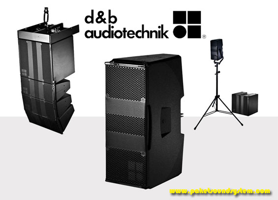 Paket Sound System Line Array Profesional d&b Audiotechnik Seri T