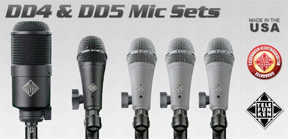 Mikrofon Set Drum Telefunken DD4 Dan DD5