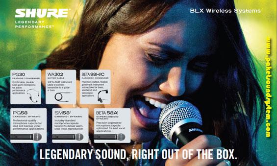 Sistem Mikrofon Wireless Profesional Shure Seri BLX