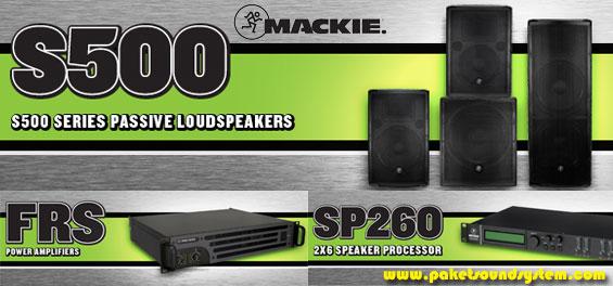 Paket Sound System Pasif Mackie Seri S500