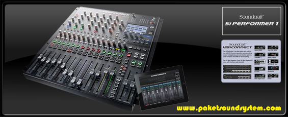 Mixer All in One Audio Lighting DMX Controller Soundcraft Si Performer1