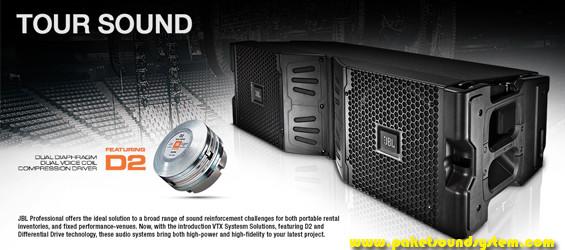 Sistem Speaker Line Array Kompak JBL VTX V20 dan S25