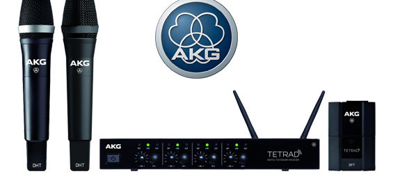 Sistem Mikrofon Wireless Digital AKG DMS Tetrad