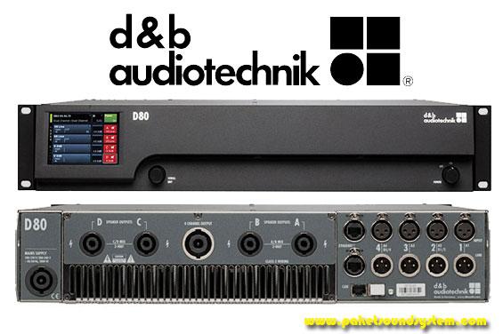 Power Amplifier Audio 4 Channel d&b Audiotechnik D80