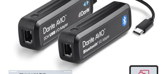 Adapter Audio Dante AVIO USB-C dan AVIO Bluetooth