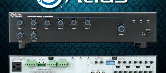 Audio Mixer Amplifier Atlas Sound AAPHD Series