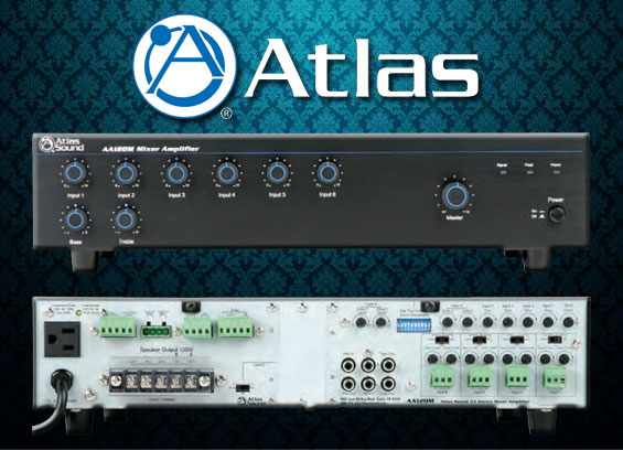 Audio Mixer Amplifier Atlas Sound AAPHD Series