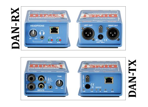 Konverter Audio Stereo Radial DiNET DAN-TX dan Radial DAN-RX