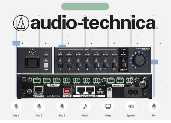 Mixer Digital Audio Technica ATDM-0604 SmartMixer