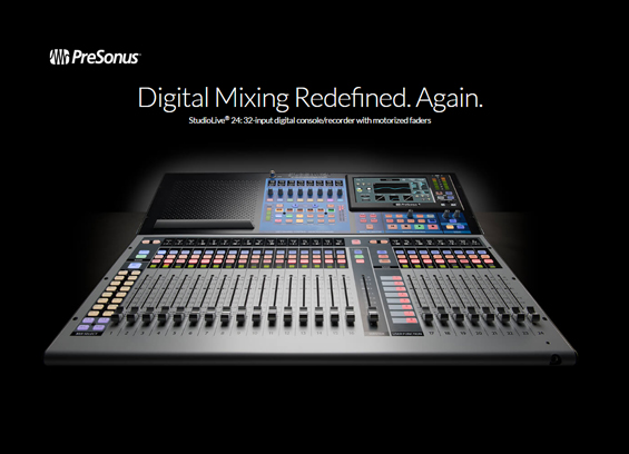 Mixer Digital PreSonus StudioLive 24 III