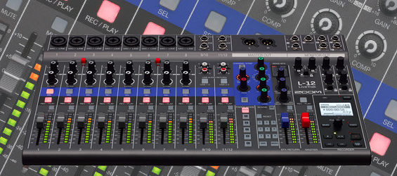 Mixer Digital Zoom LiveTrak L-12