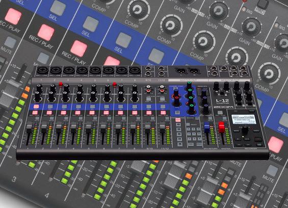 Mixer Digital Zoom LiveTrak L-12