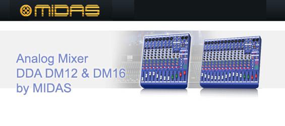 Mixer Audio DDA dari Midas