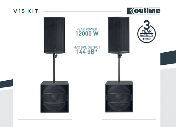 Paket Sound System Portable Outline V-Series
