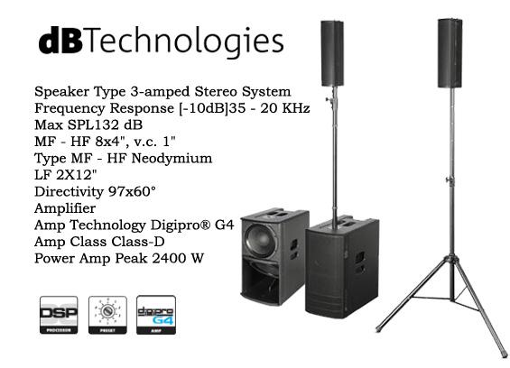 Paket Sound System dB Technologies ES1203