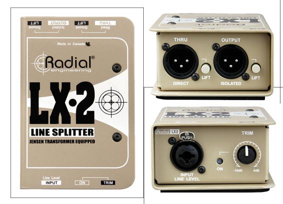 Pembagi Sinyal Audio Pasif Radial LX-2