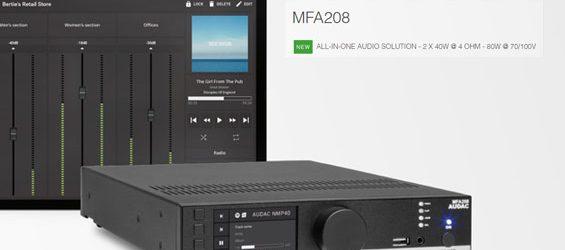 Power Amplifier Sound System Audac MFA2xx