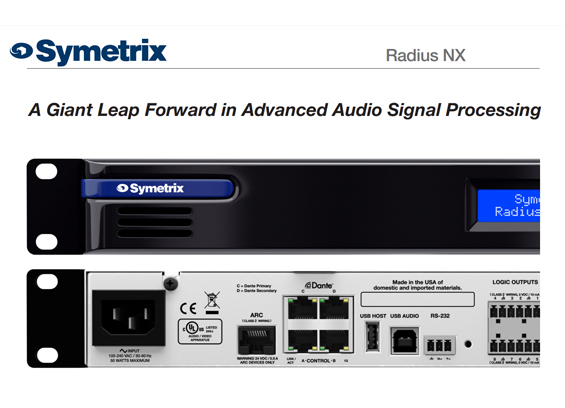Prosesor Sound System Symetrix Radius NX