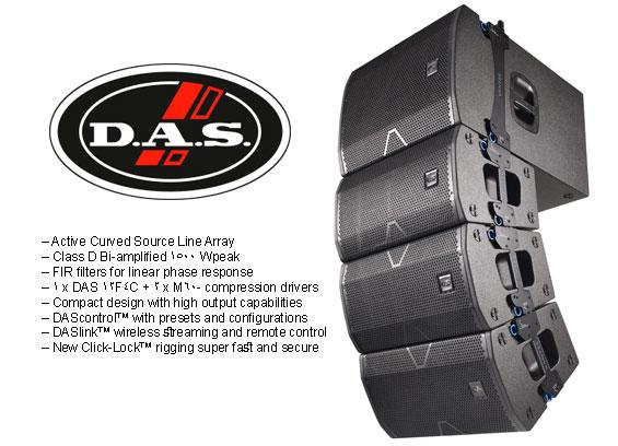 Sound System Line Array DAS Audio Vantec 20A