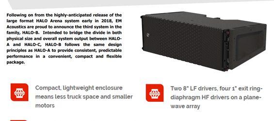 Sound System Line Array EM Acoustics HALO-B