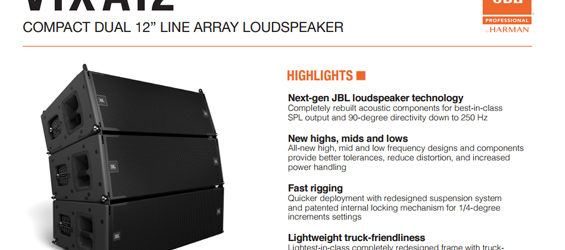 Sound System Line Array JBL VTX A12