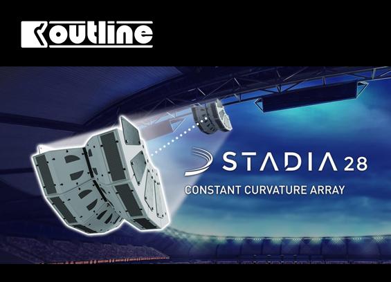 Sound System Line Array Outline STADIA 28