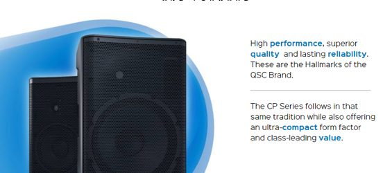 Speaker Aktif QSC Audio Seri CP