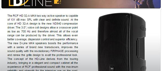 Speaker Aktif RCF D-Line MK4
