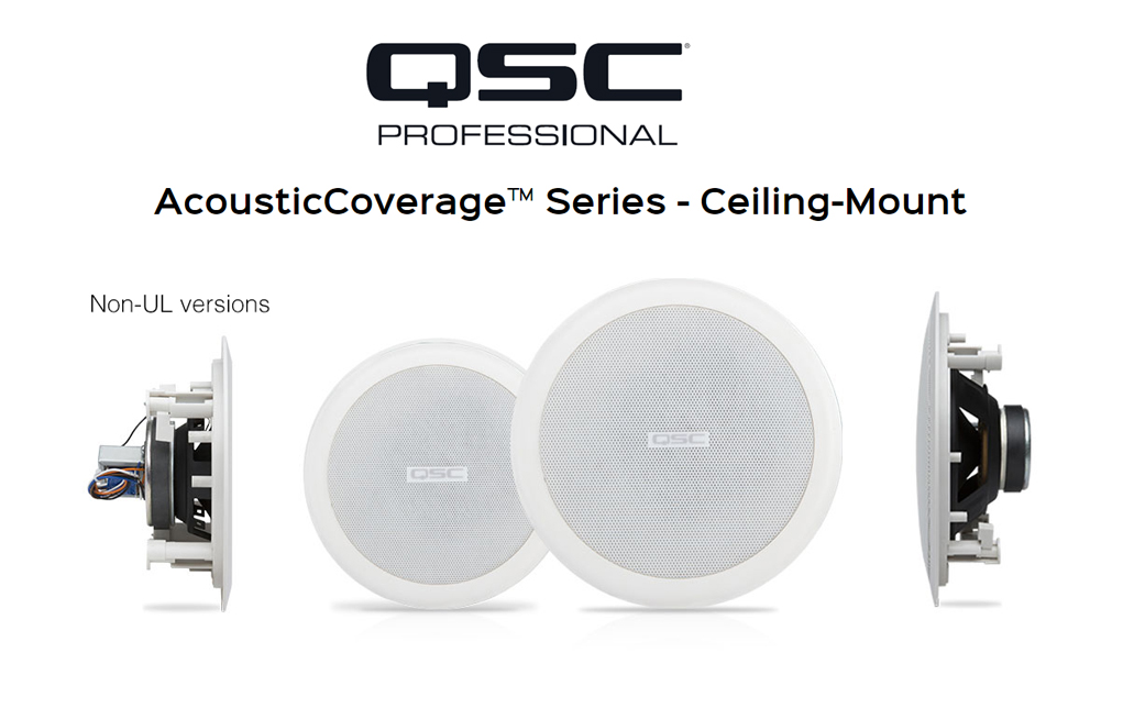 Speaker Ceiling QSC Audio AcousticCoverage
