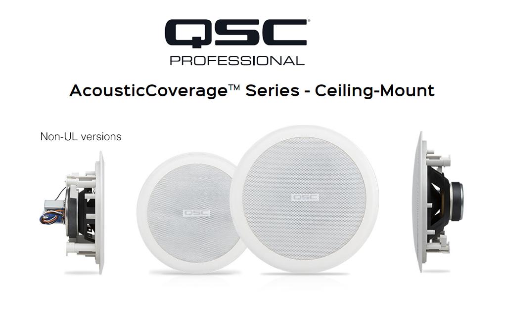 Speaker Ceiling QSC Audio AcousticCoverage