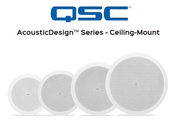Speaker Ceiling QSC Audio AcousticDesign