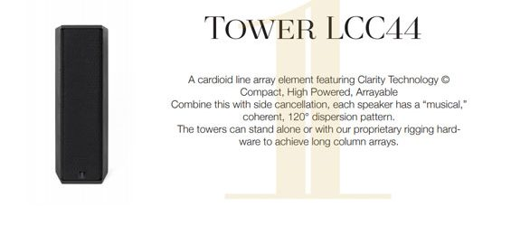 Speaker Line Array 1 Sound Tower LCC44