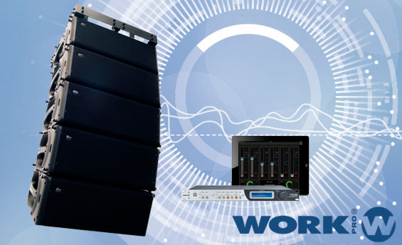Sound System Line Array Aktif WorkPro SL210A