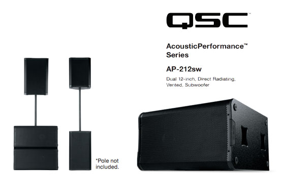 Speaker Sound System QSC AcousticPerformance AP-4122m dan AP-212sw