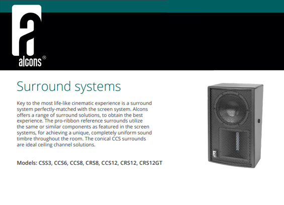 Speaker Sound System Alcons Audio CRS8