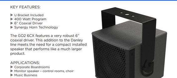Speaker Sound System Danley Go2-6CX
