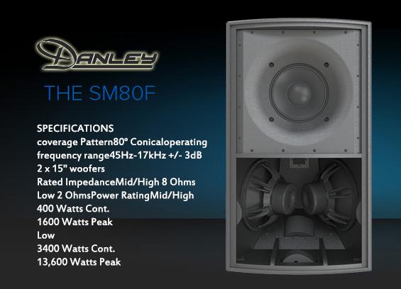 Speaker Sound System Danley Sound SM-80F