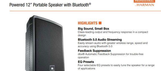 Speaker Sound System JBL Professional IRX Series