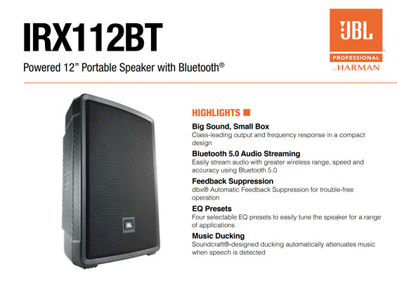 Speaker Sound System JBL Professional IRX Series