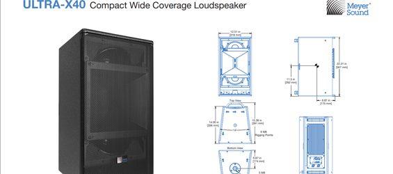 Speaker Sound System Meyer Sound ULTRA-X40
