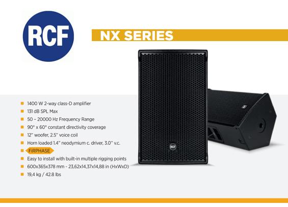 Speaker Sound System RCF Seri NX