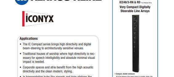 Sound System Renkus-Heinz Iconyx Compact Series 12-3-RN