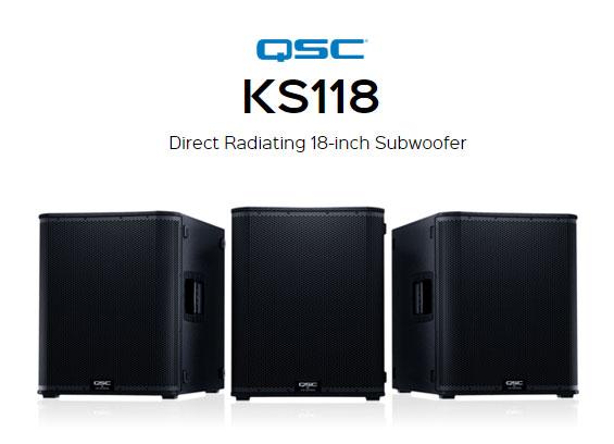 Speaker Subwoofer Aktif QSC Audio KS118