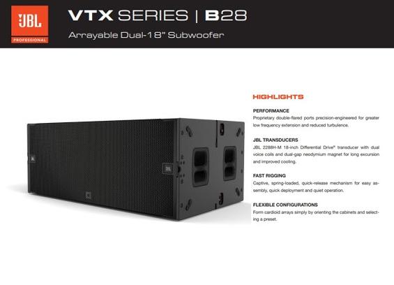 Speaker Subwoofer JBL Professional VTX B28