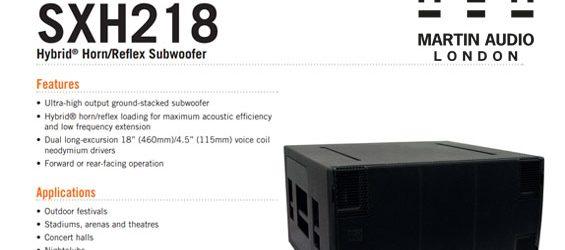 Speaker Subwoofer Martin Audio SXH218