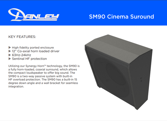 Speaker sound system Danley Sound Labs SM90
